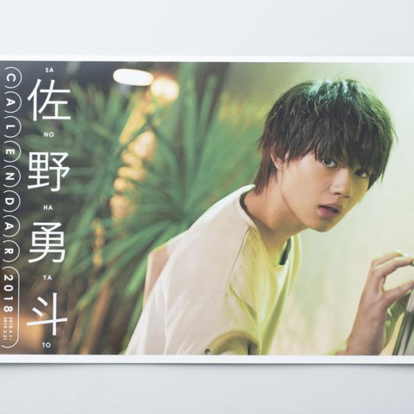 佐野勇斗カレンダー2018.04-2019.03
